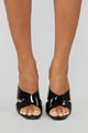 It's You Not Me Heeled Sandal - Black
