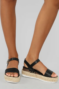 Ready Or Not Sandals - Black