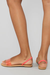 You Need Me Flat Sandals - Salmon