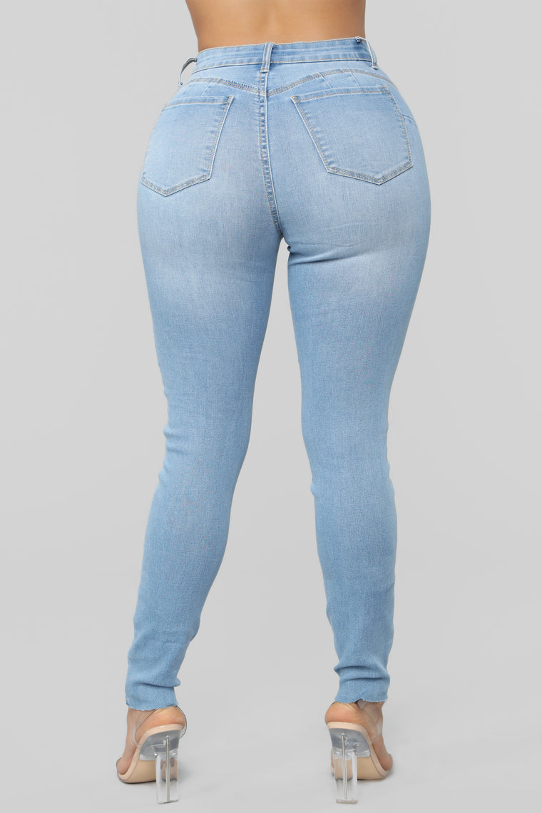 Fall Of Sass Skinny Jeans - Light Blue Wash