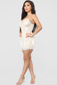 Searching For Hope Crochet Romper - Ivory/Nude