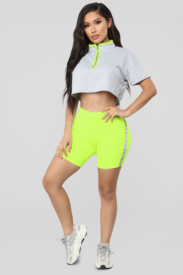 c8d8a642db1 Very Fortunate Biker Shorts - Neon Yellow