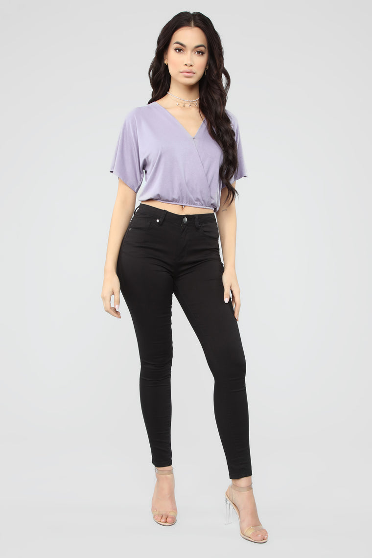 Hey You Surplus Top - Lavender