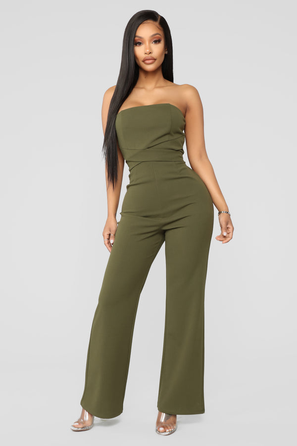 db1f3cbb88b Standing Front Row Tube Jumpsuit - Olive