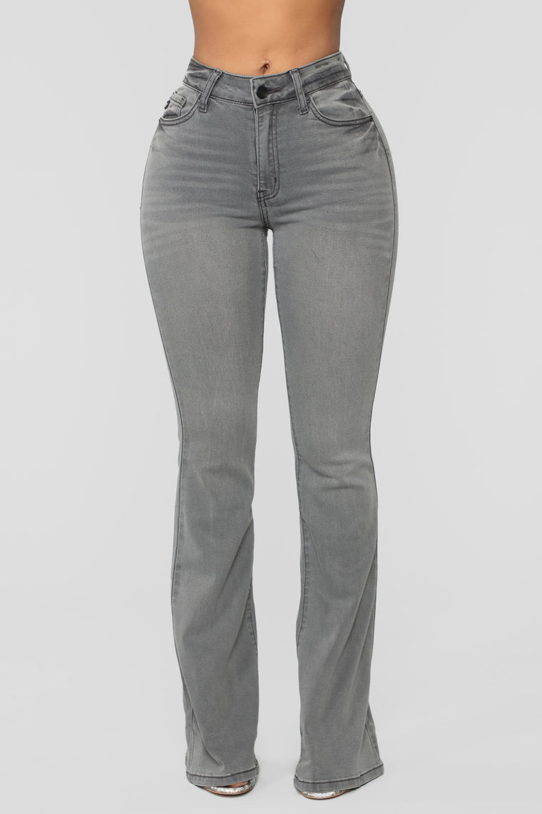 Super Fly Flare Jeans - Grey