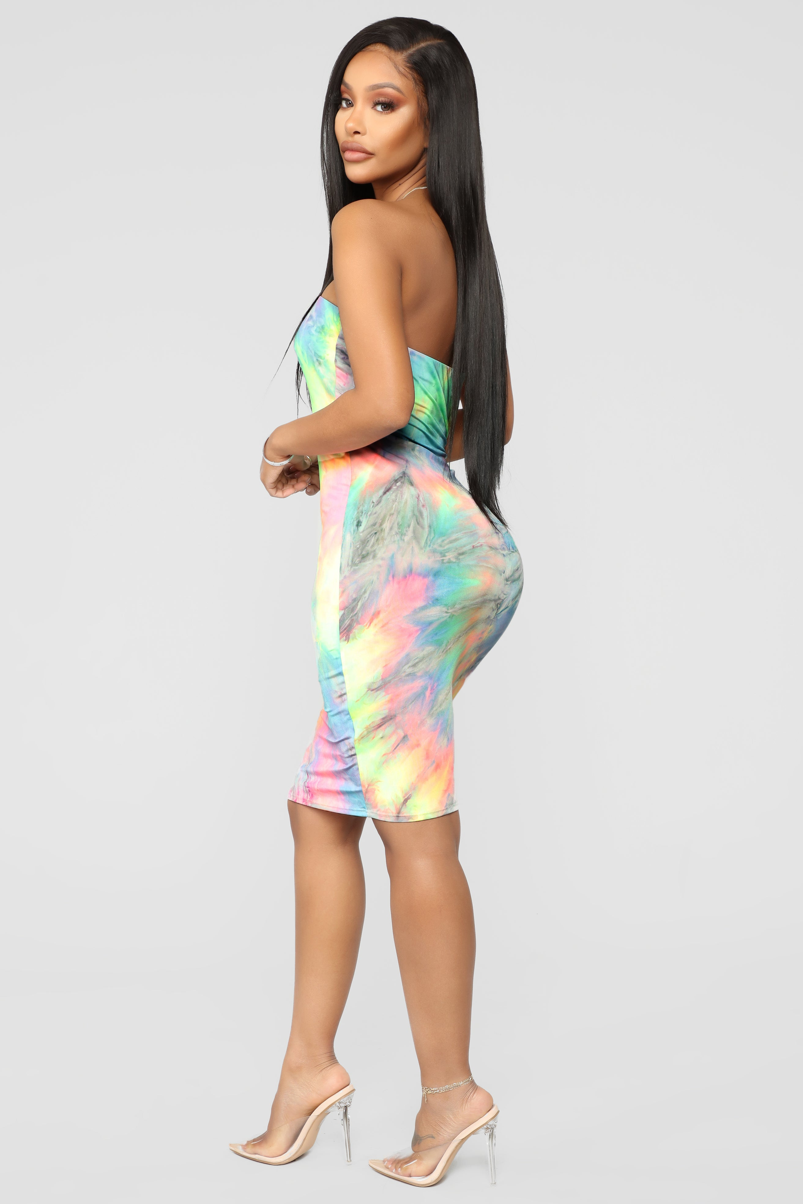 8290649d46 Tie Dye For You Tube Dress - Neon Combo