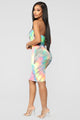 Tie Dye For You Tube Dress - Neon Combo