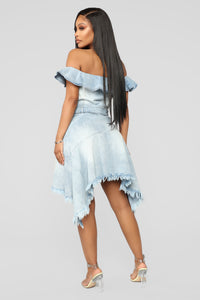 Emmie Denim Mini Dress - Light Wash