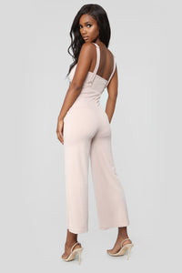 Stephanie 2 Piece Jumpsuit - Nude