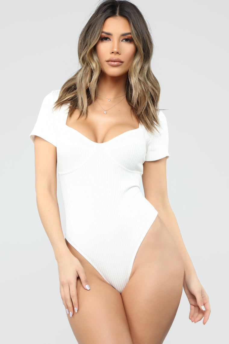Out Of Time Bodysuit - Ivory