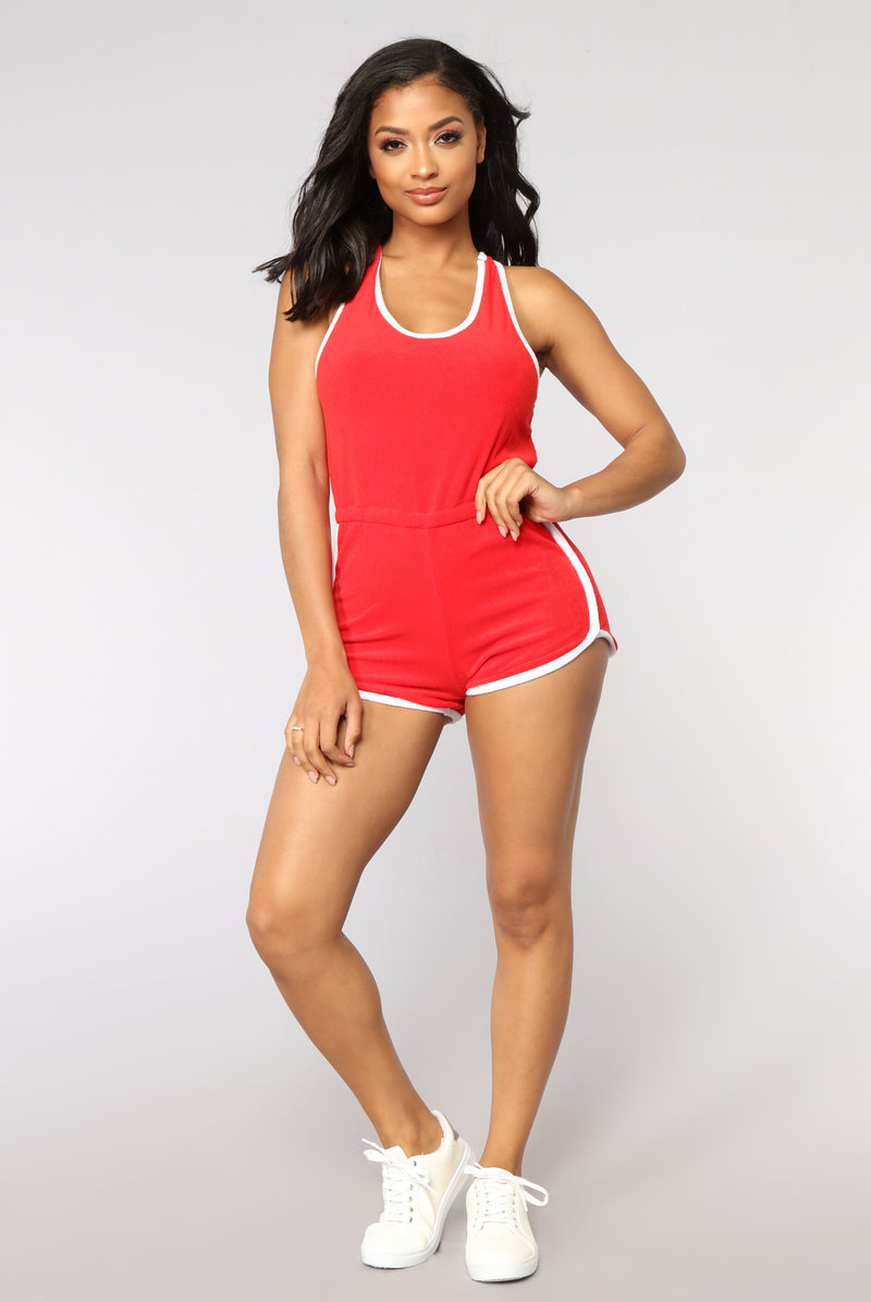 Giana Active Romper - Red