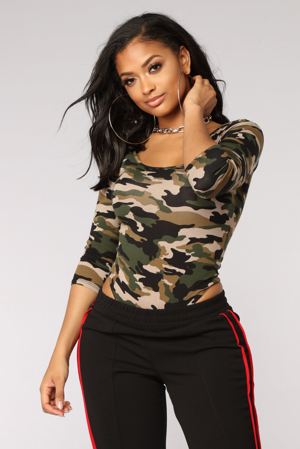 Going Incognito Bodysuit - Camo