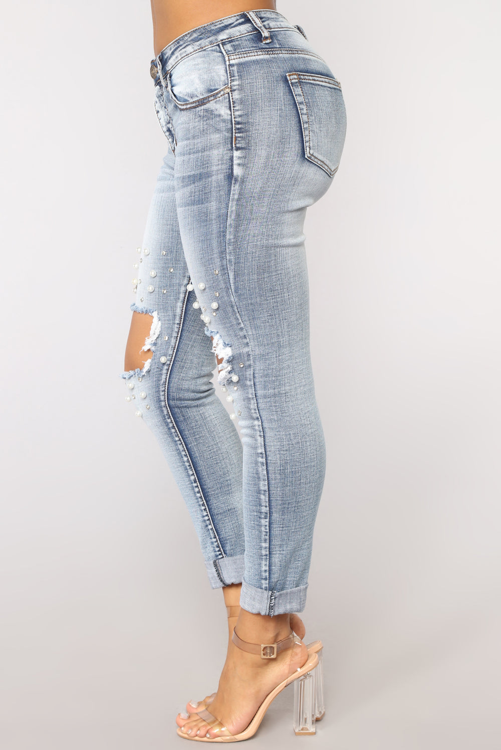 Back In Time Ankle Jeans - Light Blue Wash