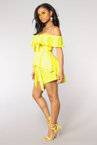 Mimosa Sunday Off Shoulder Top - Yellow