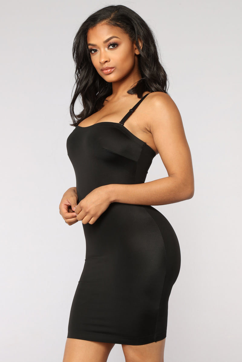 Just What I Wanted Shapewear Dress - Black