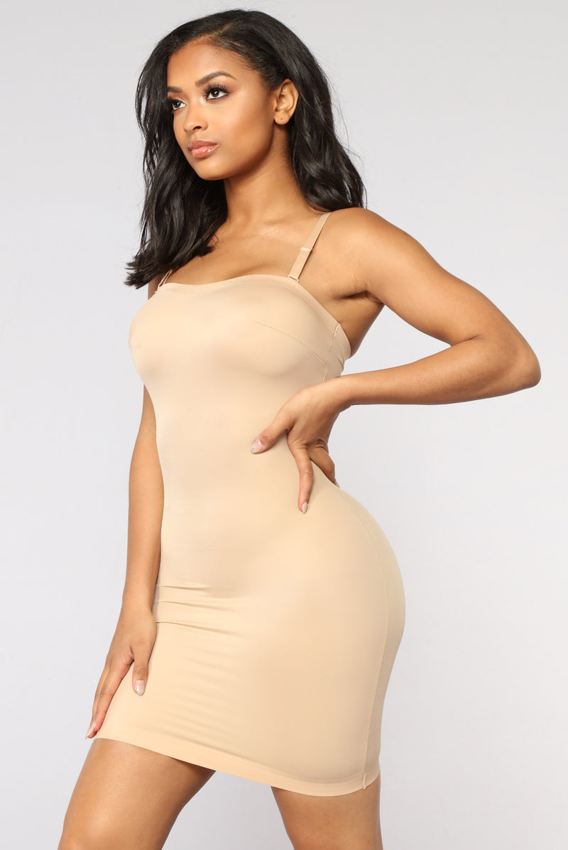 Just What I Wanted Shapewear Dress - Nude