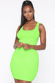 Holland Bodycon Dress - Lime