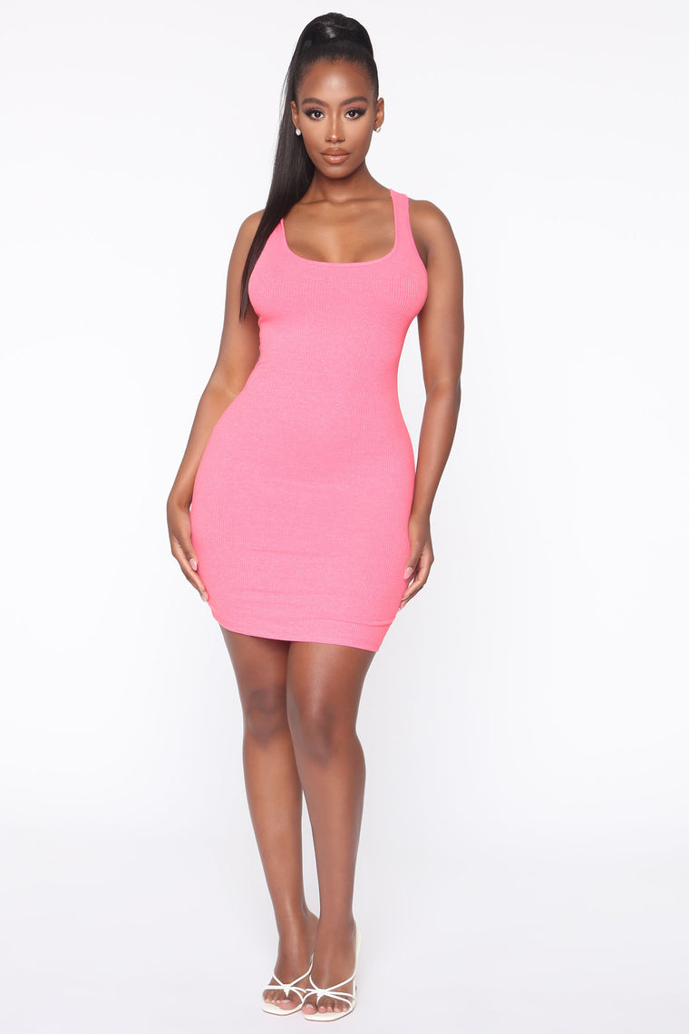 Holland Bodycon Dress - Neon Pink