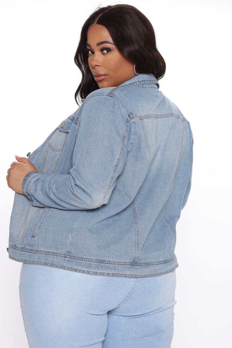 Let's Take The Back Road Denim Jacket - Medium Blue Wash