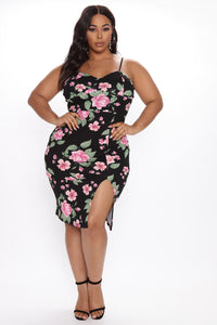 Dressed For The Weekend Floral Mini Dress - Black/combo Angle 1