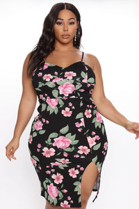 Dressed For The Weekend Floral Mini Dress - Black/combo Angle 3