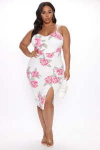 Dressed For The Weekend Floral Mini Dress - Ivory/combo Angle 3