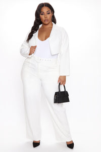 Good Luck Blazer Pant Set - White Angle 5