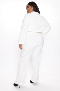 Good Luck Blazer Pant Set - White Angle 8