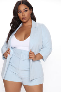 This Means Business Blazer - Blue Angle 4