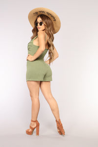Make A Wishlist Romper - Olive