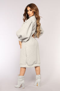 The Tune Of Love Dress - Grey