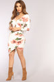Wallflower Floral Dress - Ivory/Blush