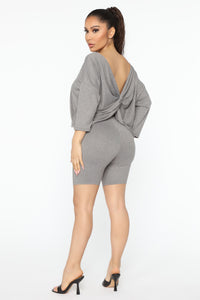 Play In Comfort Short Set - Heather Grey
