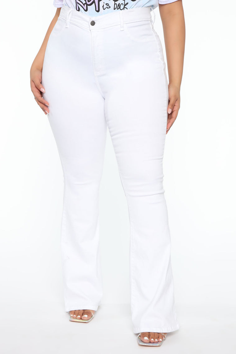Deep In My Soul Flare Jeans - White