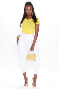 A Simple Pleasure Top - Yellow
