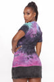 Good Karma All Day Tie Dye Top - Purple/combo