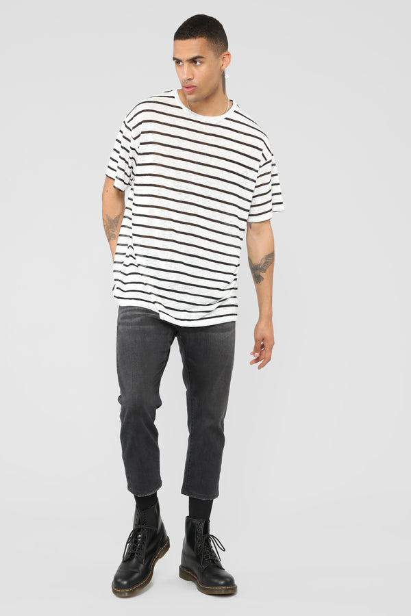 Striped Out Tee - Black White 992d379fe904
