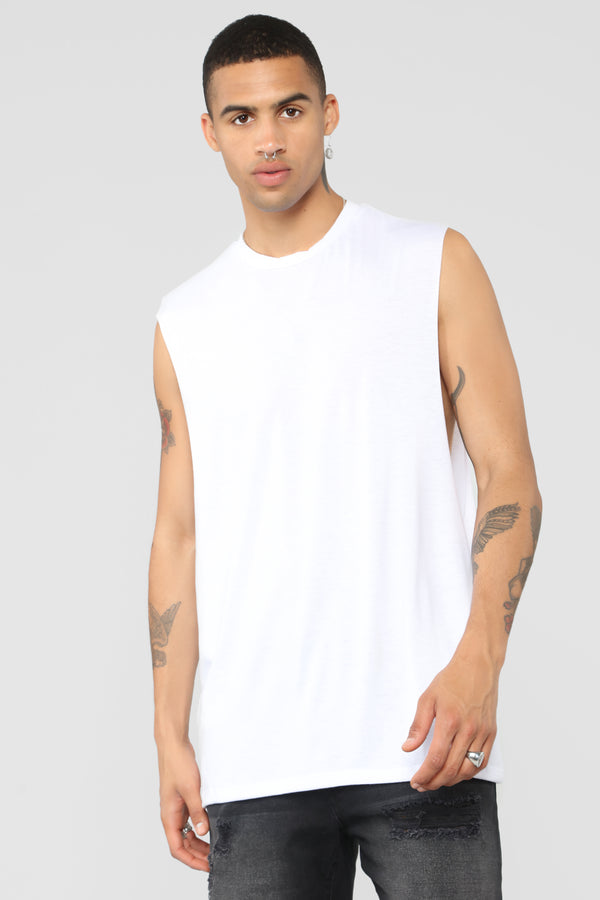 143c09f1117 Muscle Essential Tee - White