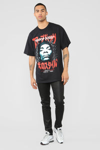 D-O Double G Short Sleeve Tee - Black/Red
