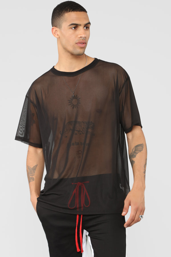 Netted Up Mesh Tee - Black dc55ce8c6