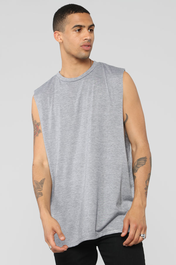 bebdb36938 Muscle Essential Tee - Heather Grey