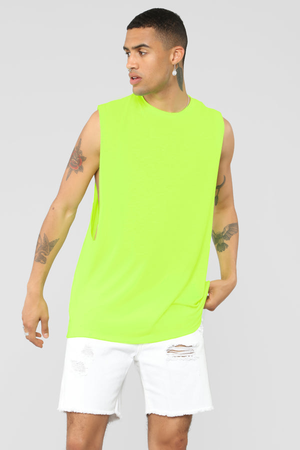 2f07842f606 Muscle Essential Tee - Neon Yellow