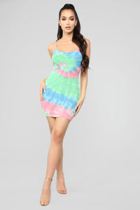 Jaelynn Tie Dye Mini Dress - Multi