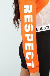 Respect The Hustle Sweatshirt - Orange