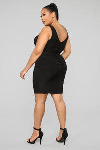 Better For Me Mini Dress - Black