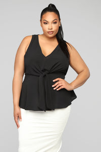 Stripe Me Into Love Top - Black