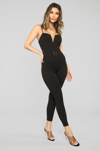 Sealed With A Kiss Jumpsuit - Black