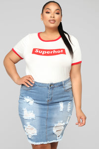 I'm Super Hot Top - White