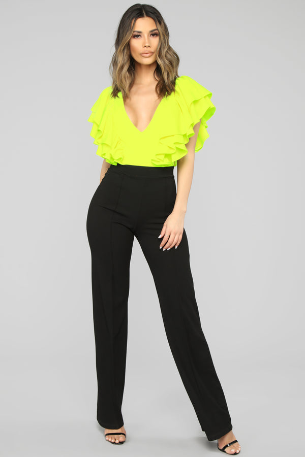 a4a452795f1550 Need More Time Bodysuit - Neon Lime