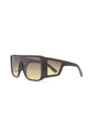 Got Your Attention Shield Sunglasses - Black
